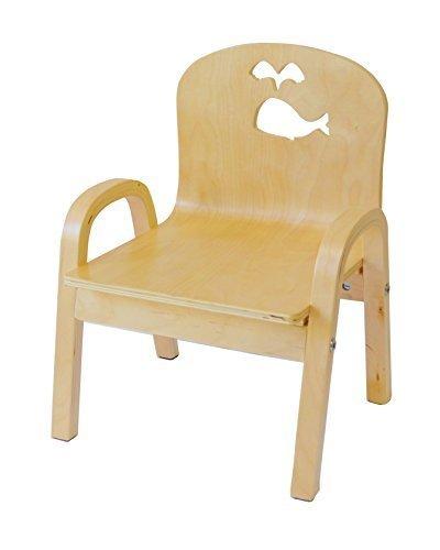 MAMENCHI 木製キッズチェア 組立済 クジラ ナチュラル C-0615,子ども,椅子,