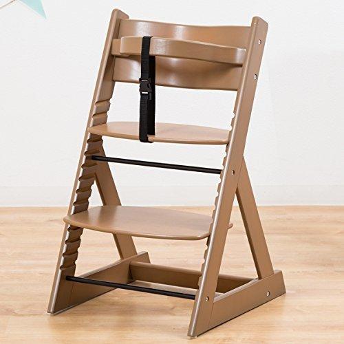 笑顔のダイニングベビーチェアー 木製椅子 安心強度の三角形ベース 【マジカルチェア】 ブラウン色,子ども,椅子,