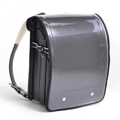 ワクワク通学ランドセルカバー 透明・クリアブラック 日本製 N4150200,ランドセルカバー,