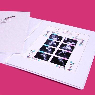 超音波写真アルバム【フラワー】ベーシック「お仕立券」,エコー写真,アルバム,
