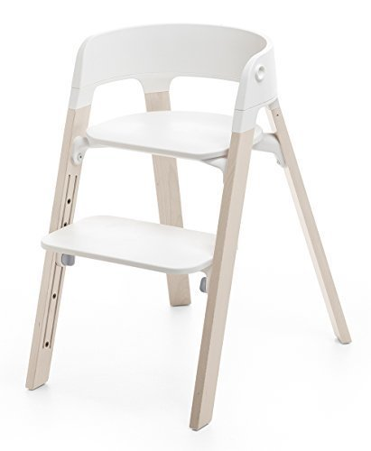 STOKKE ストッケ ステップス (シート+レッグ) セット シート:ホワイト レッグ:ビーチ ホワイトウォッシュ 【2個口】,キッズ,チェア,椅子