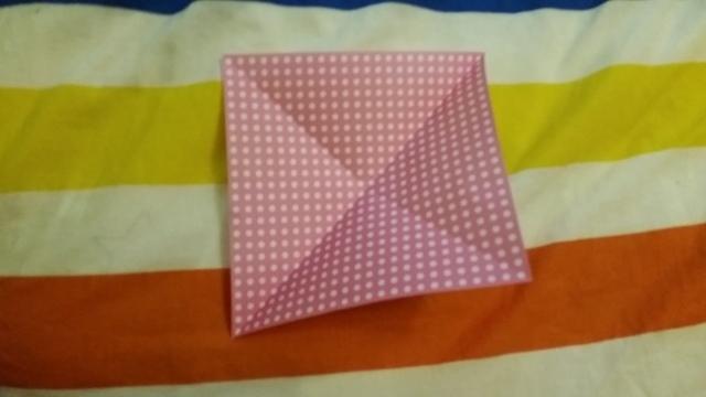 折り紙リボン折り方1,折り紙,リボン,