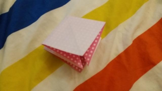 折り紙リボン折り方4,折り紙,リボン,