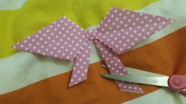 折り紙リボン折り方15,折り紙,リボン,