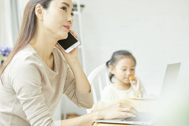 母親子供電話,幼稚園,入園前,