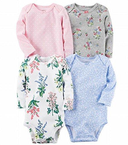 カーターズ Carter's 長袖ボディースーツ4枚セット 女の子 フラワーガーデン (18months(78~83cm)) [並行輸入品],ベビー服,ブランド,おすすめ