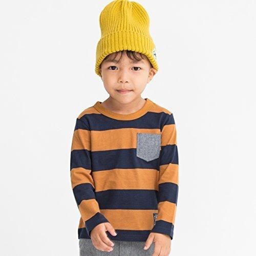 (サンカンシオン) 3can4on 【150cmまで】太ボーダー長袖Tシャツ 58613510 13(130cm) ブラウン(342),ベビー服,ブランド,おすすめ