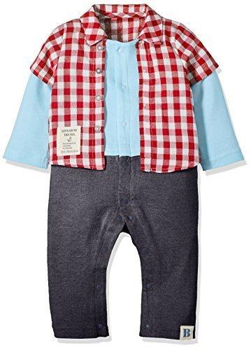 ニシキ P2624 Bon chouchou(ボンシュシュ) 重ね着風長袖カバーオール 70cm レッド・P2624-70R,ベビー服,ブランド,おすすめ