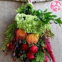 玄関 花 誕生日 結婚祝い お礼 歓送迎 ドライフラワー リース スワッグ 『おまかせスワッグ』 生花 楽天ランキング1位,母の日,楽天,