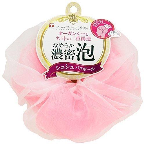 東和産業 泡立てネット シュシュ バスボール ピンク 直径約14cm,ベビー石鹸,固形,おすすめ