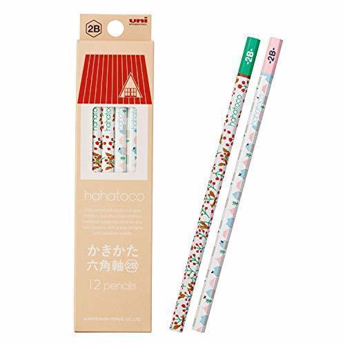 三菱鉛筆 かきかた鉛筆 ハハトコ HT01 2B リス&家 1ダース K56102B,鉛筆,かわいい,