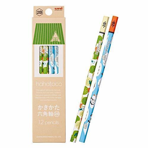 三菱鉛筆 かきかた鉛筆 ハハトコ HT01 2B カエル&ペンギン 1ダース K56122B,鉛筆,かわいい,