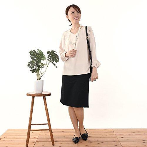 モーハウスの授乳服 サイドスリットタイプ ジョーゼットブラウス (ピンクベージュ),授乳服,