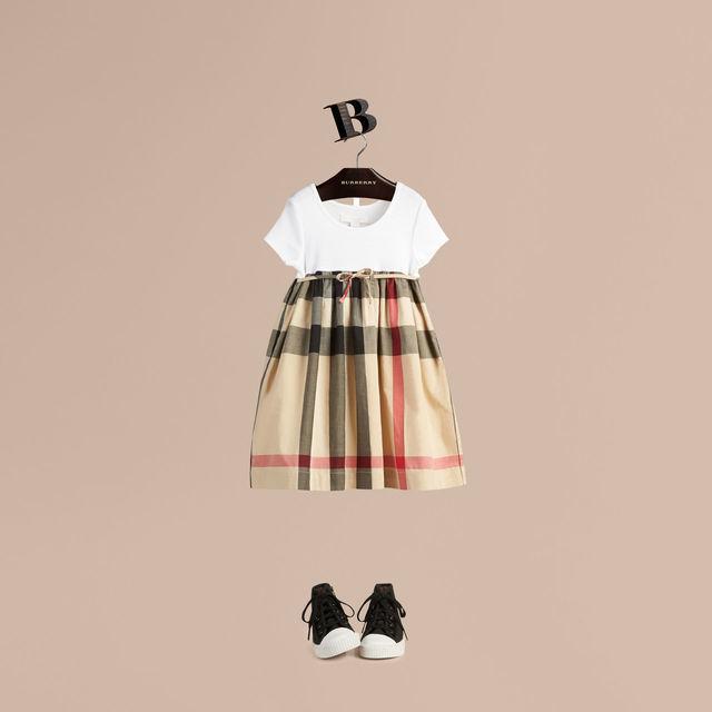 チェックコットンTシャツドレス,子供服,ドレス,