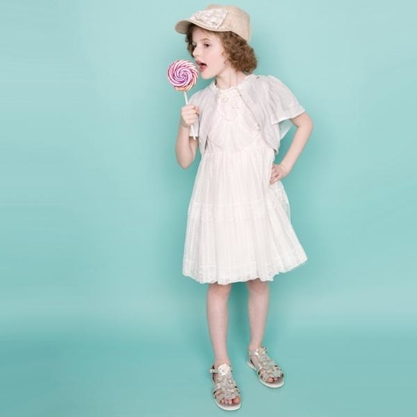 レースフリル切り替えワンピース,子供服,ドレス,