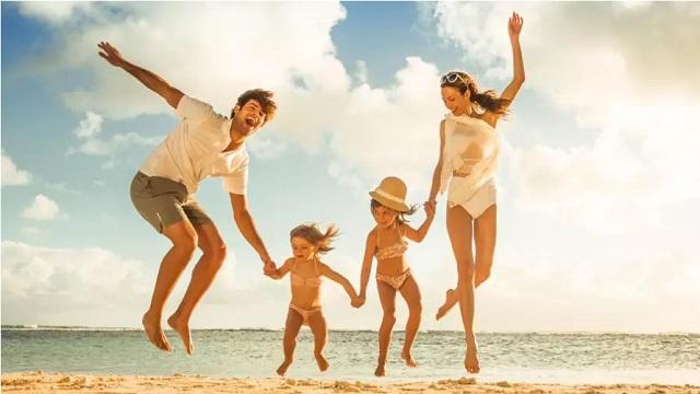 クラブメッド浜辺の親子,子連れ,旅行,