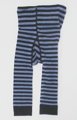 (グレェド) Groedo オーガニックコットン ベビー レギンス 紺 ブルー ストライプ サイズ 01 ( 70 ),レギンス,ベビー,