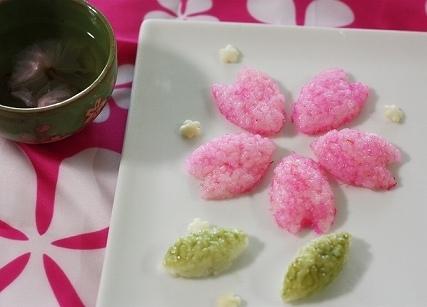 桜のご飯パーツ,お花見,おにぎり,