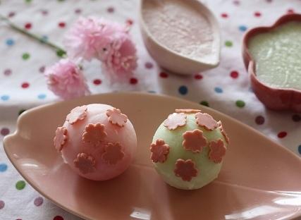 桜のシャーベット,花見,スイーツ,