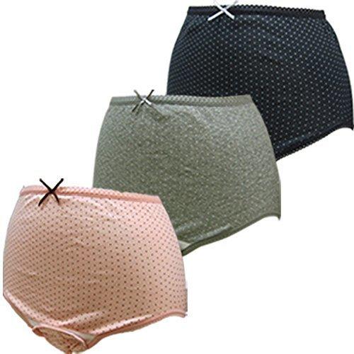 ローズマダム 産褥ショーツ 選べる3枚組 M-Lサイズ (C-ドット柄/黒・ピンク・グレー) 115-0810-01,出産入院準備,リスト,必要
