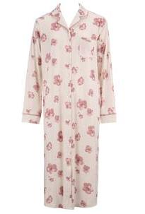 水彩風花柄 ネグリジェ|アモスタイル,前開きパジャマ,マタニティ,