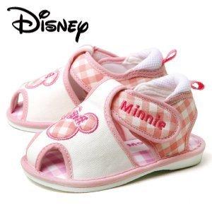 PK-ピンク 13.5 Disney ディズニー Minnie ミニー ベビー サンダル DS4133 ピンク 笛つき マジックテープ ダイマツ,ベビーシューズ,人気,