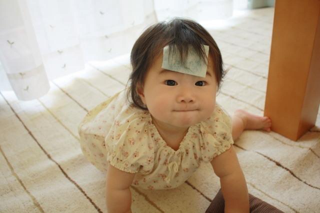 熱が出た女の子,生後,10ヶ月,赤ちゃん