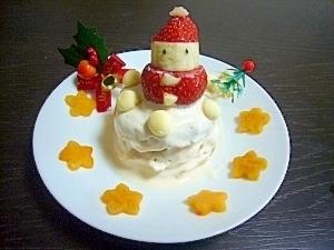 【離乳食後期~】クリスマスケーキ ,離乳食,バナナ,