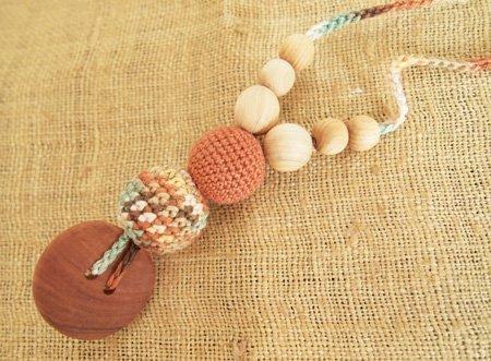 ナージングネックレス ミックスフォレスト 【 授乳 木製 ネックレス 】,赤ちゃん,歯固め,