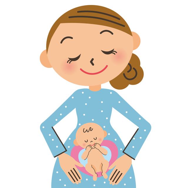 ママとお腹の中の赤ちゃん,妊娠18週,赤ちゃん,