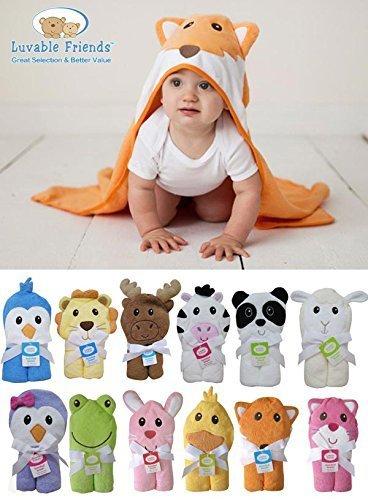 Luvable Friends ラバブルフレンズ Animal Face Hooded Towel アニマル フェイス フード付きバスタオル Lion ライオン,お風呂,赤ちゃんグッズ,