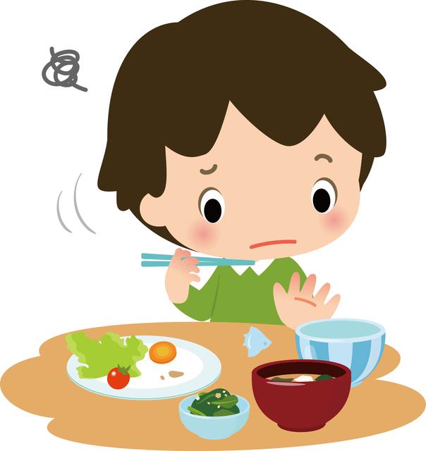 好き嫌いをする子ども,食事マナー,