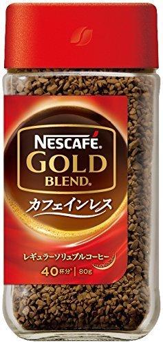 コーヒー ネスカフェ ゴールドブレンド カフェインレス 80g,ノンカフェイン,飲み物,