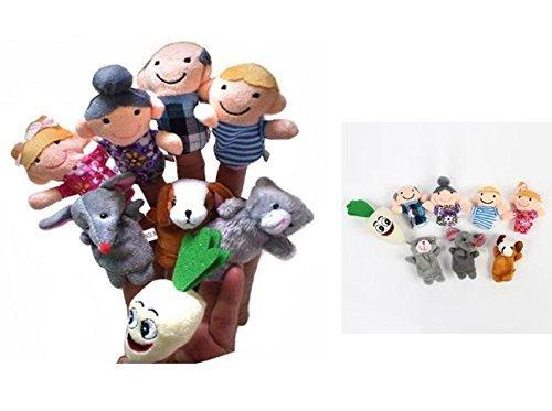 N-hilfe 大きなカブ 指人形 家族 8本 セット かわいい 親子 カブ パペット おもちゃ 子供 保育,絵本,手作り,