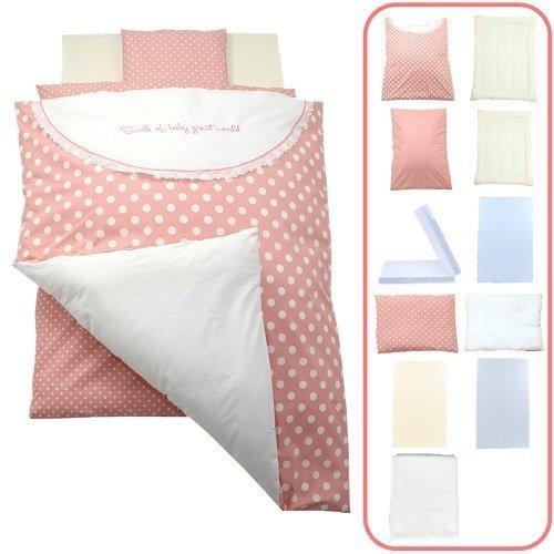 「 日本製 」 ベビー布団 セット レギュラーサイズ 11点 セット 高級綿毛布がセットになったかわいいデザイン 『 シャボン玉・ピンク 』,ベビー布団,おすすめ,