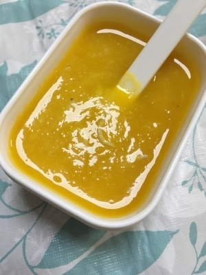 離乳食初期☆じゃがいも&かぼちゃ&しらす10倍お粥,離乳食,じゃがいも,