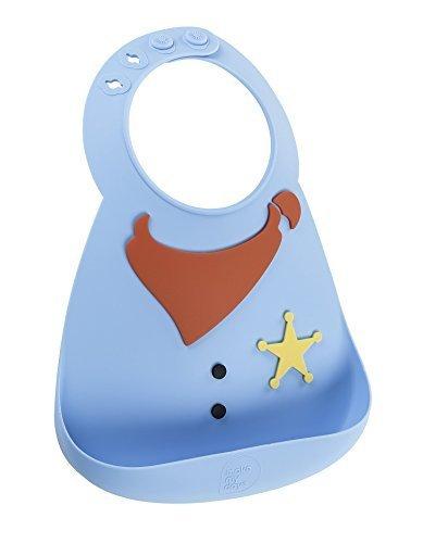 メイクマイデイ 食洗器で洗えるシリコン100%のやわらかビブ 【日本正規品】6ヵ月~3歳 シェリフ,離乳食,エプロン,