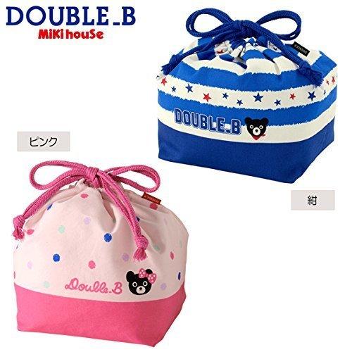 mikihouse Double_B(ミキハウスダブルB)ボーダー&ドット柄 ランチバッグ(お弁当袋) ---,紺,お弁当袋,作り方,