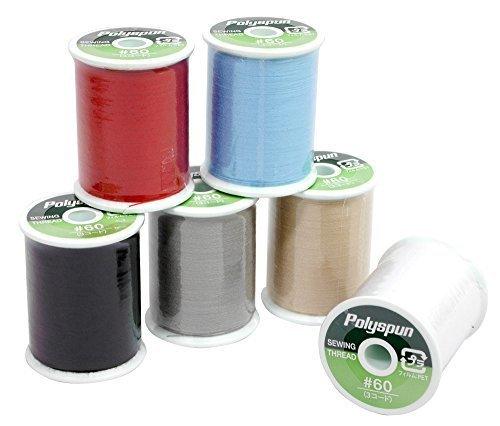 FUJIX(フジックス) ポリスパン 60番 100m 6色セット ミシン糸,ランチマット,手作り,