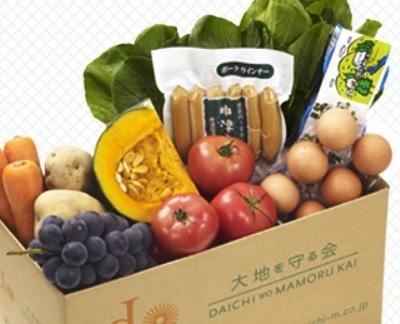 段ボールに入った野菜やウインナー,ネットスーパー,食材宅配,口コミ
