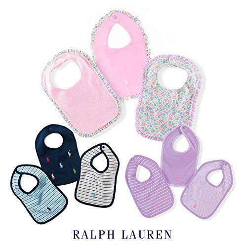 ラルフローレン ベビー スタイ 3枚セット ビブ よだれかけ 男の子 女の子 スタイ3枚セット,パープル,出産祝い,ラルフ,