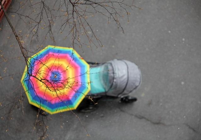 ベビーカーと傘,ベビーカー ,レインカバー,
