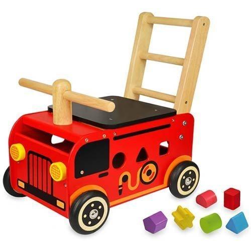 I'mTOY ウォーカー&ライド 消防車 ,出産祝い,男の子,