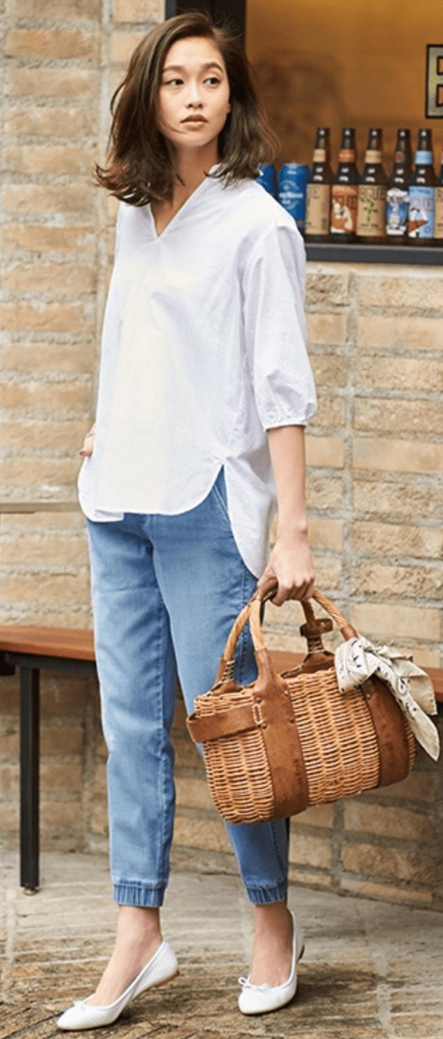 ジョガーパンツ×シャツ,ユニクロ,メンズ,ジョガーパンツ