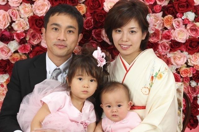 家族写真,七五三,親,服装