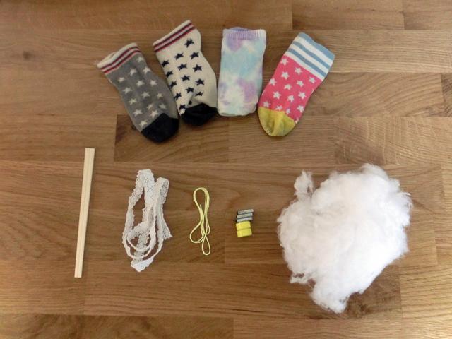 靴下 魚釣り 材料,赤ちゃん,おもちゃ,作り方