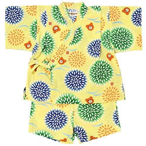 ミキハウス ホットビスケッツ (MIKIHOUSE HOT BISCUITS) 甚平スーツ 72-7513-979 80cm 黄,服,
