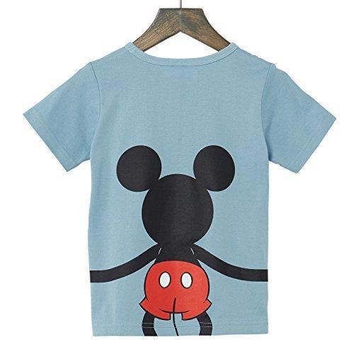 【Disney】ディズニー つながるプリントTシャツ(キッズ) ミッキーマウス(ブルー) 120,服,