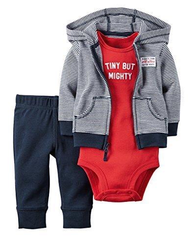カーターズ Carter's ボディースーツ & フード付きパーカー 長袖 & パンツ 3点セット 3-Piece Babysoft Cardigan Set 6M (61-67cm) [並行輸入品],服,