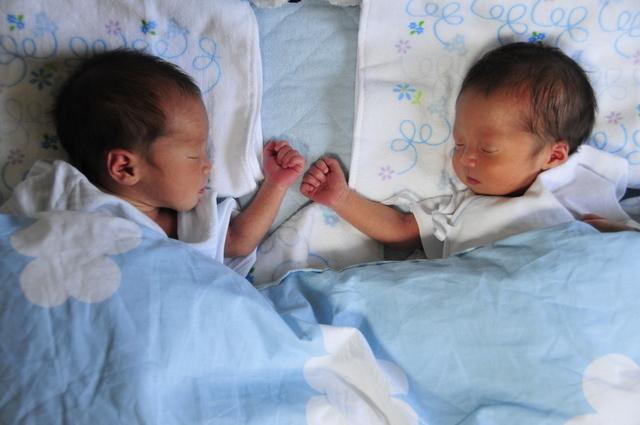 双子の新生児,双子,出産,